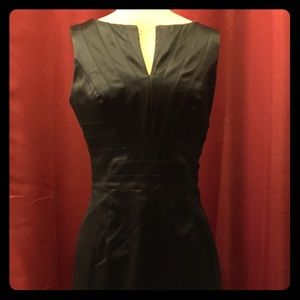 Kay Unger Black satin dress